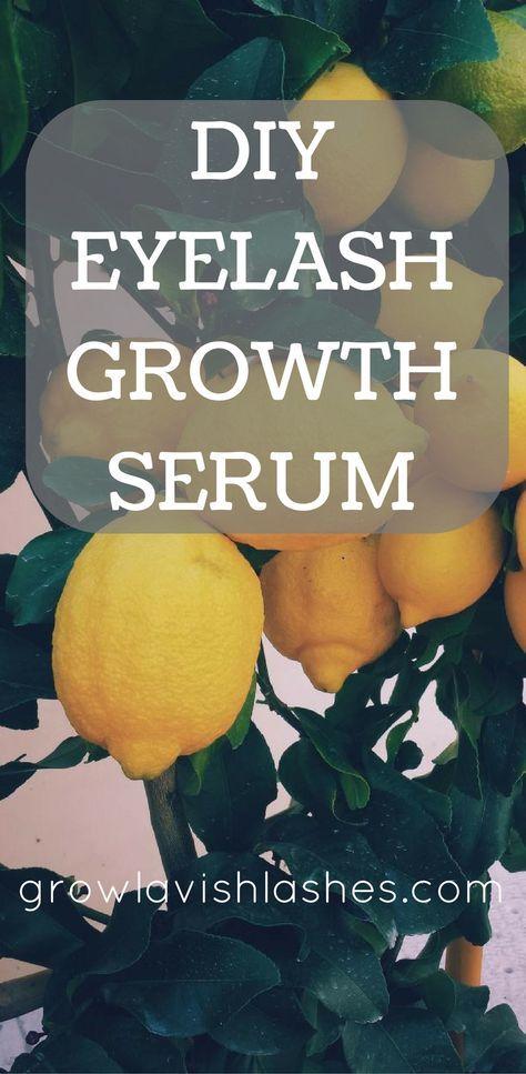 All-Natural Eyelash Growth Home Remedy   Eyelash growth ...