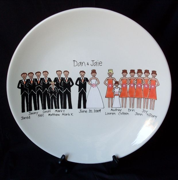 Custom Wedding Party Plate