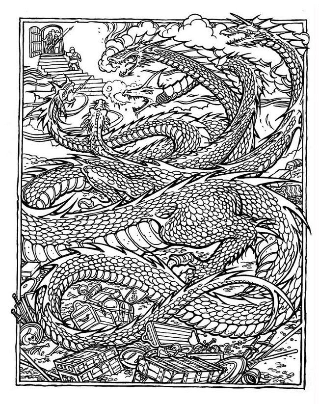 Hard Dragon Coloring Pages Dragon Coloring Page Detailed Coloring Pages Printable Coloring Pages