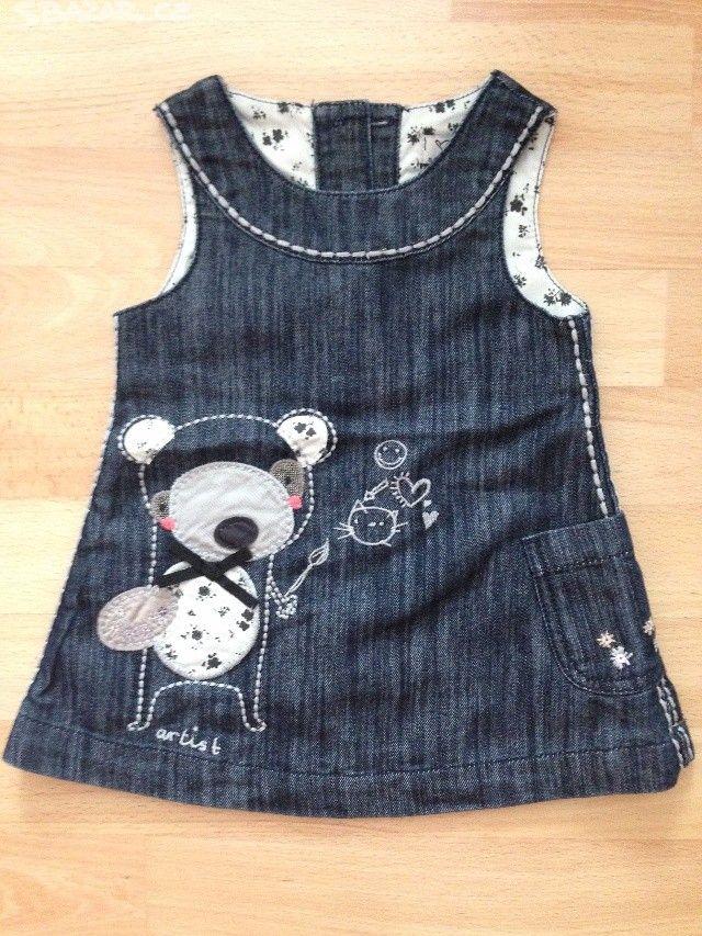 Dětské džínové šaty NEXT 49639b1a07