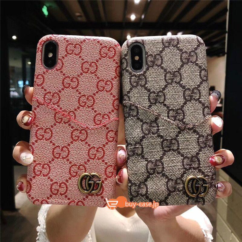 Gucci携帯iphonexケース ハイブランドビジネス風シンプル アイフォンx Iphone7plusグッチ保護カバー6sスマホケース8plusカード 収納icカード入れxplus 9背面カードポケット男女お揃い8 7 6モノグラム柄ggスプリーム Iphoneケース ケース グッチ