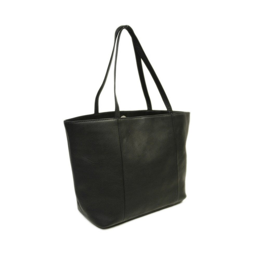Black One Size Piel Leather Tote