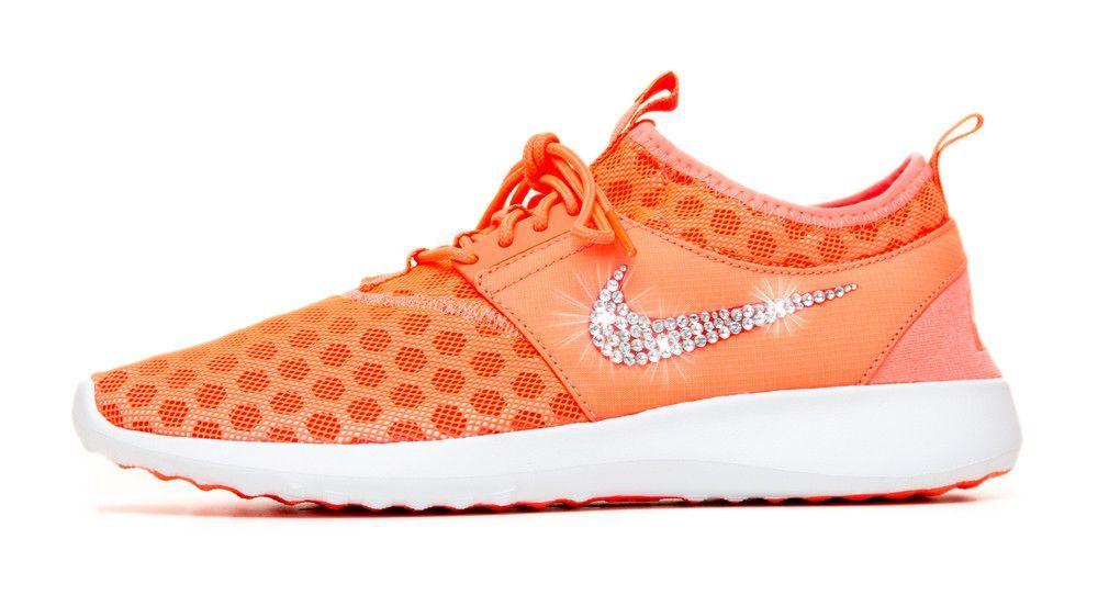 Nike Juvenate Running Shoes By Glitter Kicks - Customized With Swarovski  Crystal Rhinestones - Red  f99d849f6eef