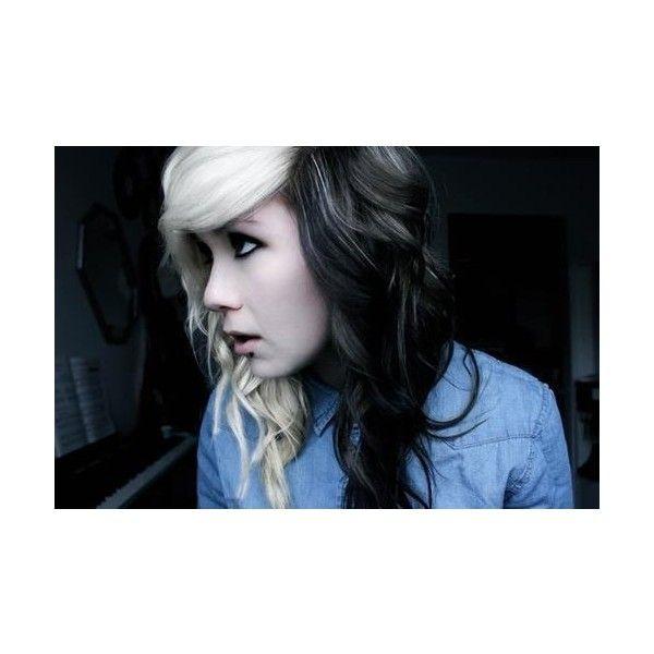 half brown half blonde hair tumblr liked on polyvore