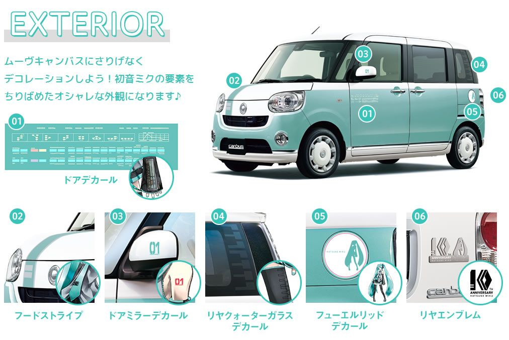 Hatsune Miku Themed Car Announced By Daihatsu The Move Canbus