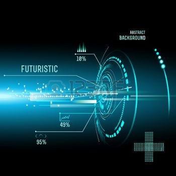Illustration Of Futuristic Interface Hud Sci Fi Background Sci Fi Background Technology Wallpaper Futuristic