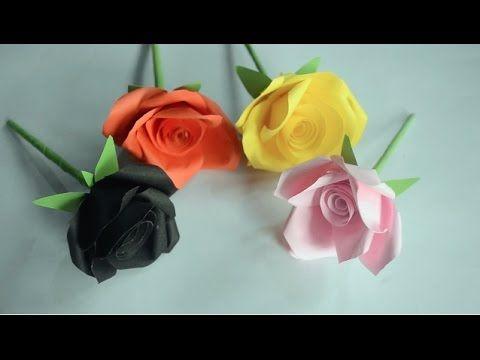 How to make easy beautiful paper flower youtube gift wrapping how to make easy beautiful paper flower youtube mightylinksfo