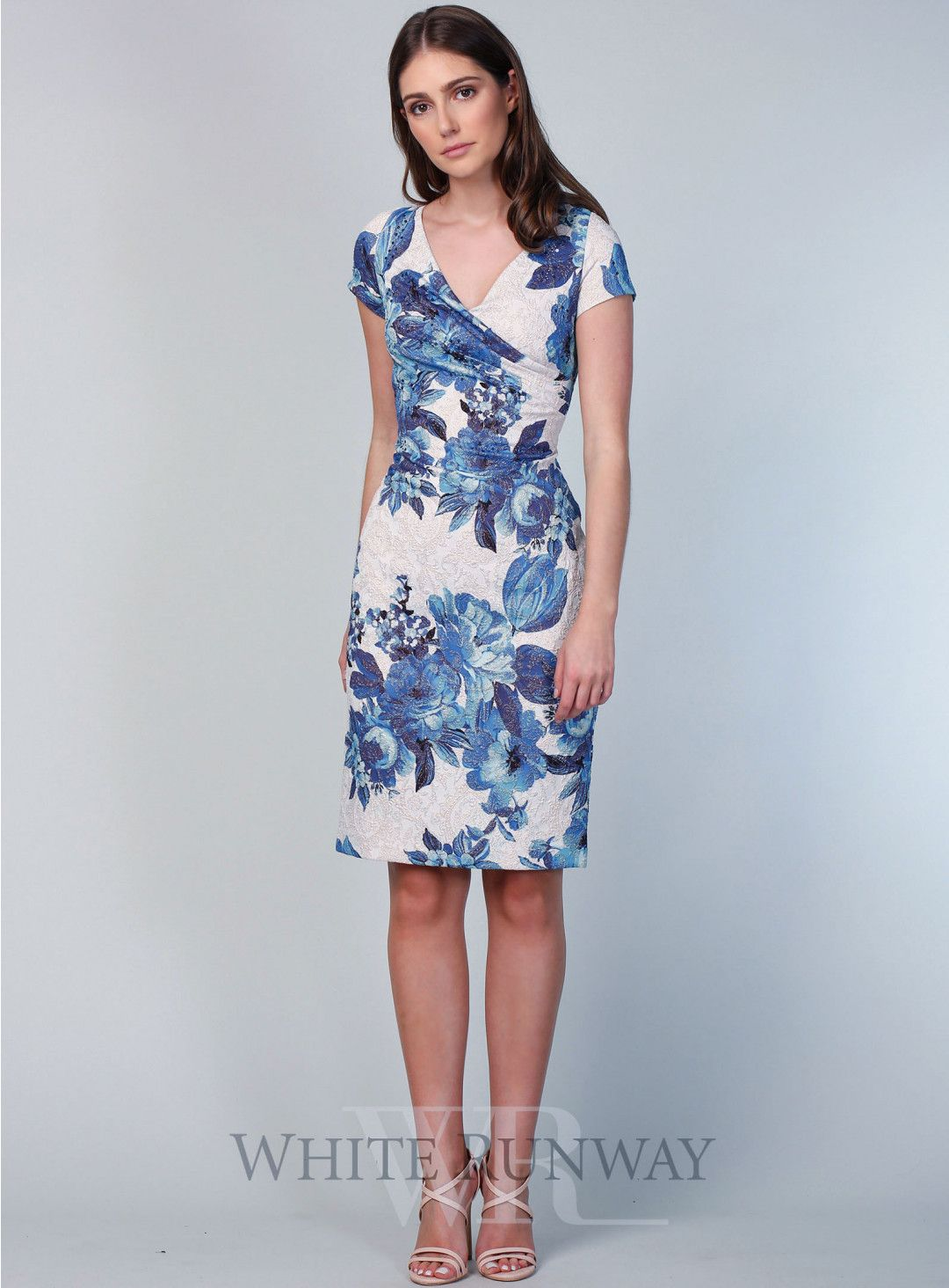 Sheri Floral Dress. A chic cocktail length dress by Adrianna Papell ...