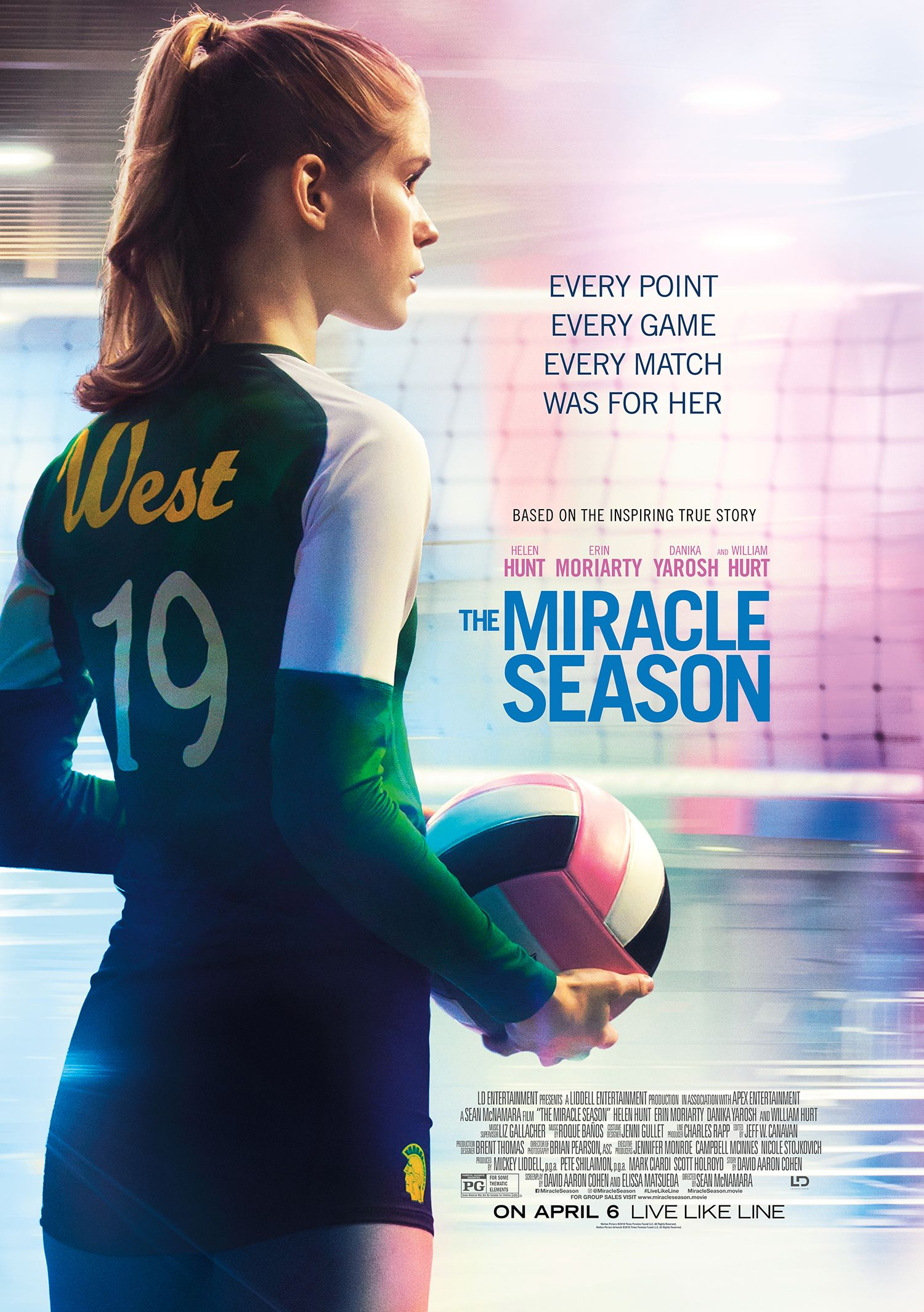 The Miracle Season In Select Theaters April 6 2018 The Miracle Season Volleyball Inspiration Volleyball Quotes