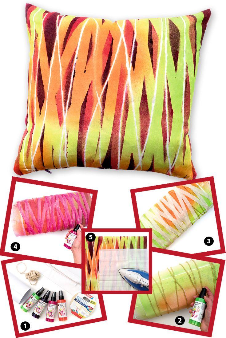 geben sie textilien eine ganz pers nliche note mit dem marabu fashion spray ganz nach ihrem. Black Bedroom Furniture Sets. Home Design Ideas