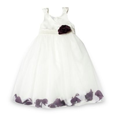 1cdd9a9d062 Tigerlily Girl s plum floating petal skirt occasion dress- at Debenhams.com