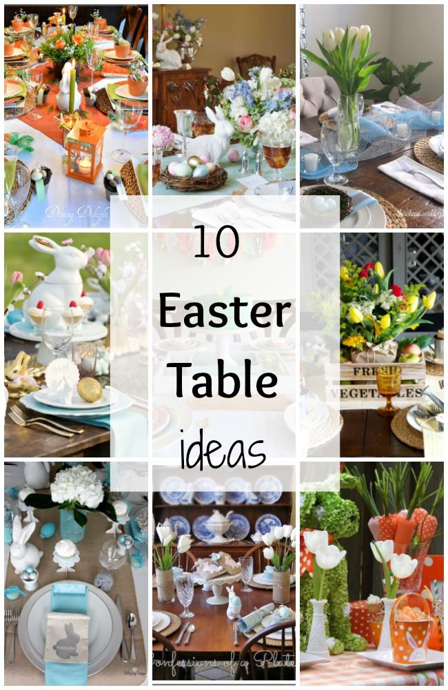 10 easter table ideas via a blissful nest