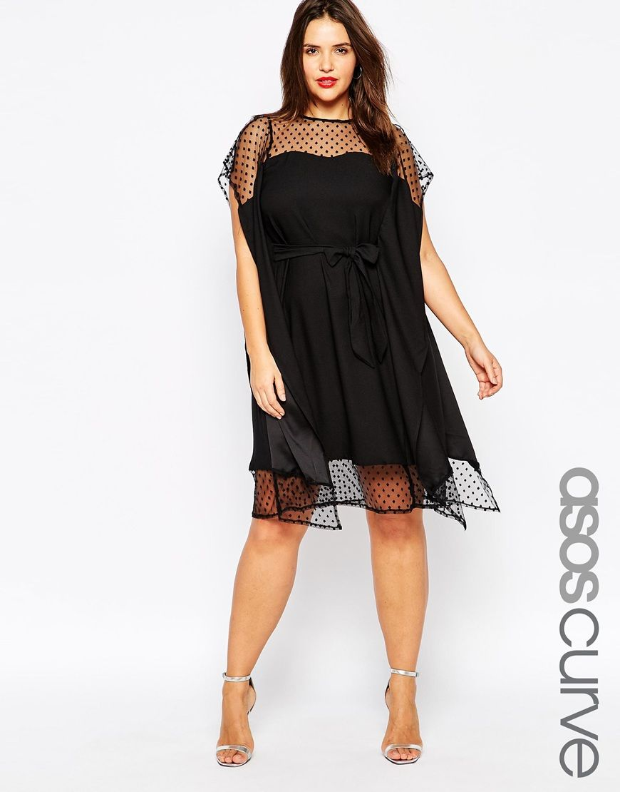 Curvy wedding guest dresses asos  Image  of ASOS CURVE Kimono Dress with Dobby Mesh  Crafts I Want