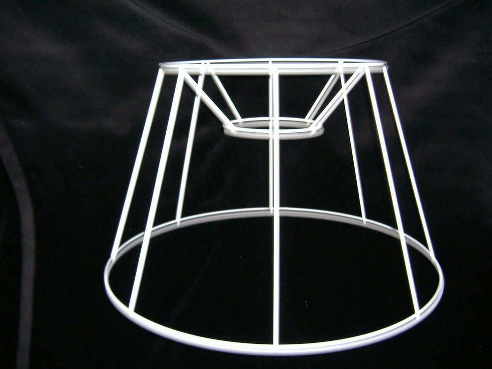 French drum wire lampshade frame 14 base wire lampshade and diy light french drum wire lampshade frame 14 base greentooth Images