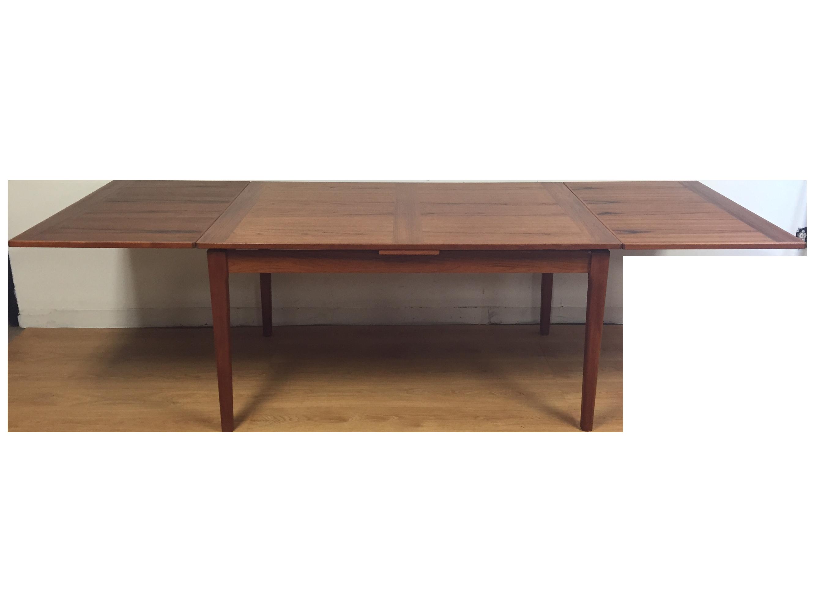 A Long Extending Teak Dining Table Madedyrlund Made In Denmark Extraordinary Danish Modern Dining Room Decorating Design