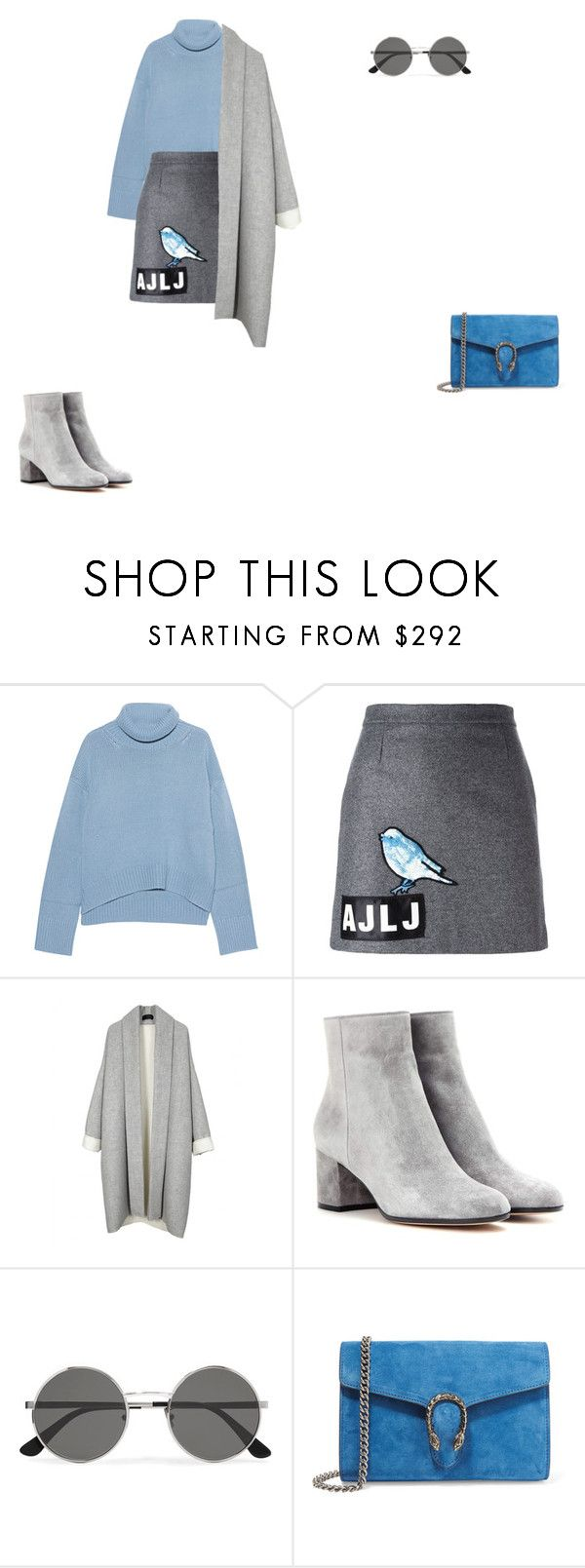 """""""weird"""" by leafmarie ❤ liked on Polyvore featuring iHeart, Au Jour Le Jour, Gianvito Rossi, Yves Saint Laurent and Gucci"""