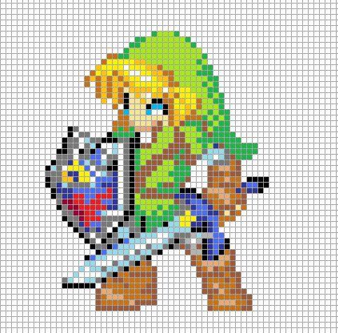Link Pixel Art Grid Faire Du Perler Beads