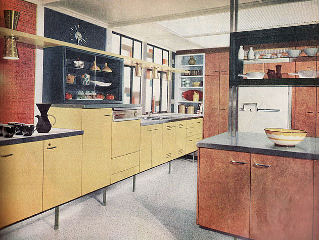 Postwarvintage: 1958 St. Charles Kitchen From U201cBetter Homes U0026 Gardensu201d