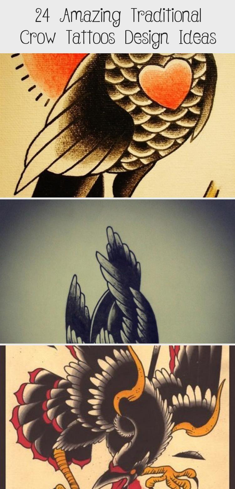 Photo of 24 incroyables idées de conception de tatouages traditionnels de corbeau – Blog de tatouage