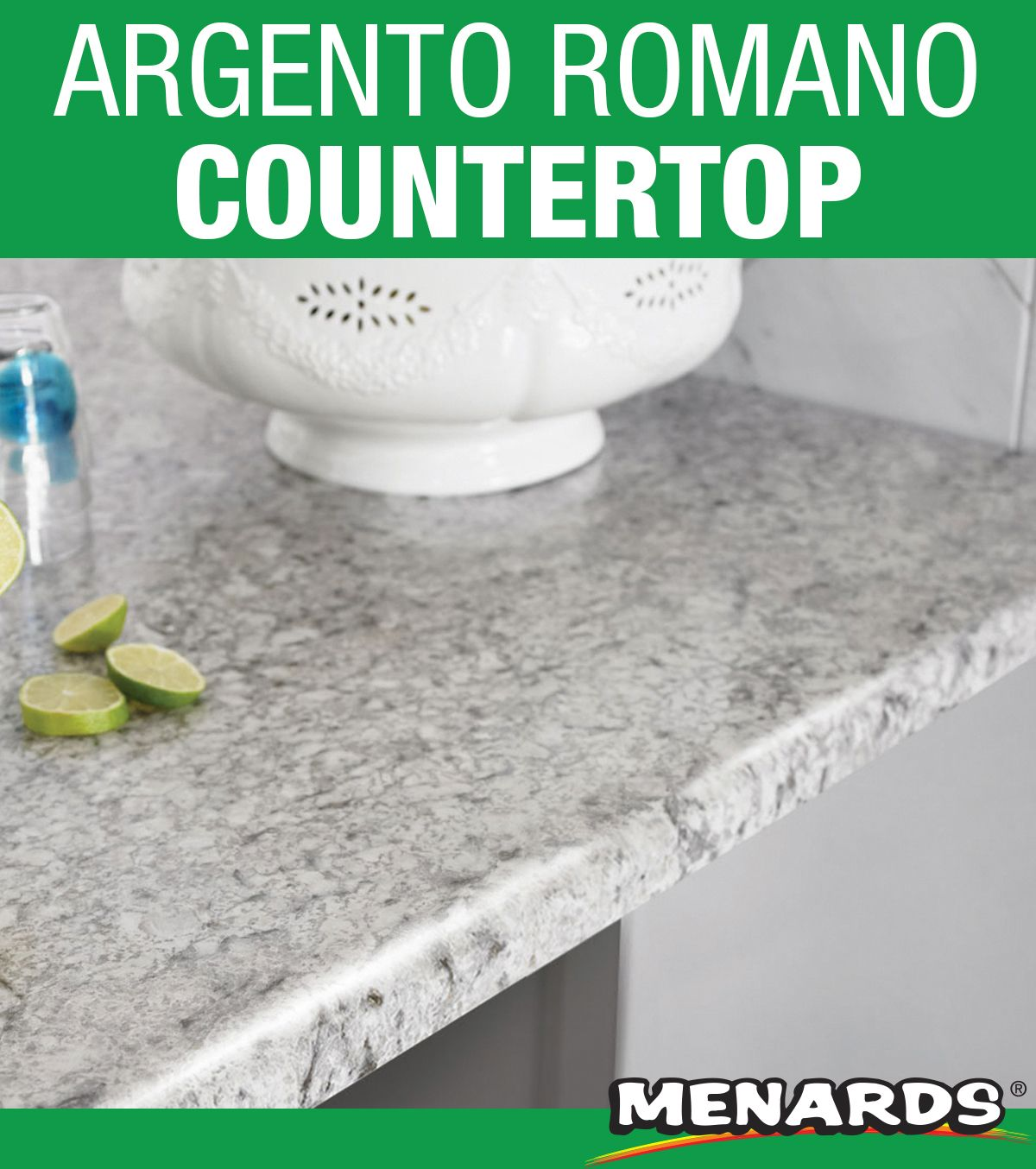 Add Style To Your Kitchen With Argento Romano Customcraft Laminate Countertop It Pairs Well With Gray And Whi