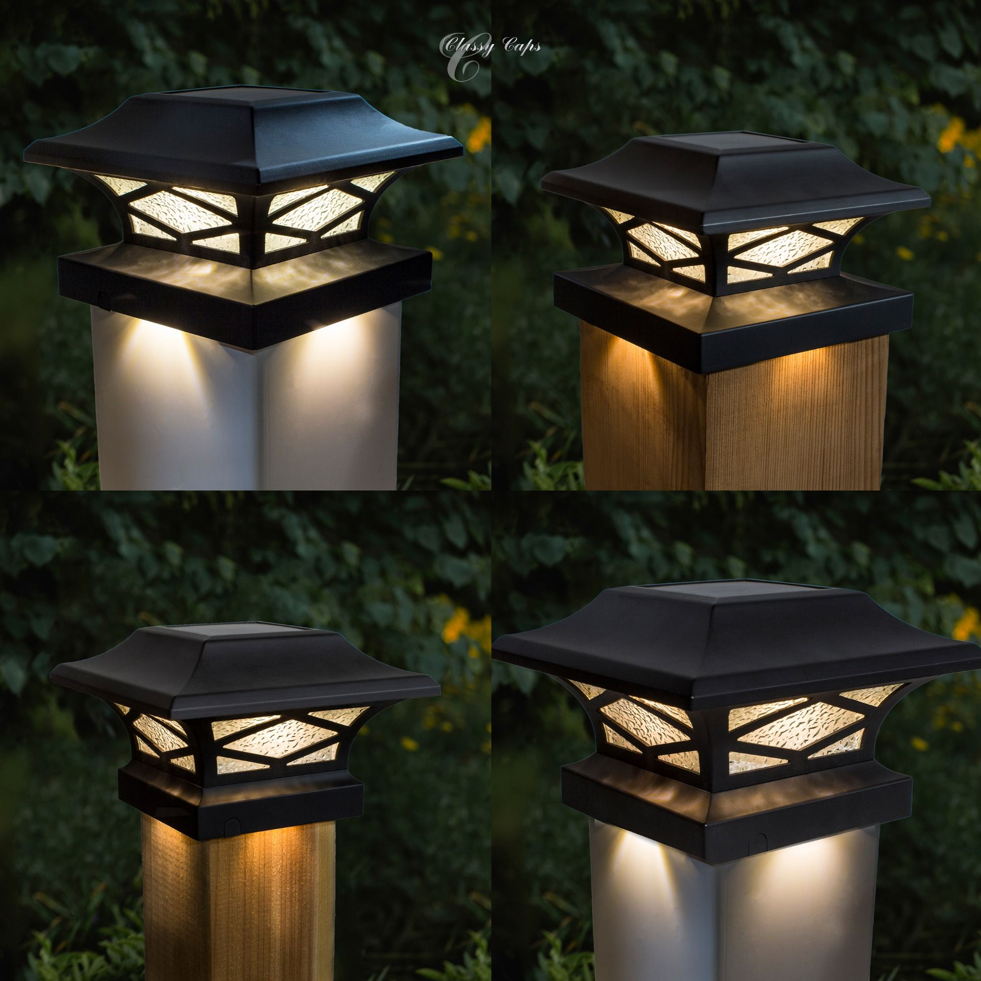 The New Kingsbrigde Solar Post Cap Is Dual Lighted And Fits Four Post Sizes Solar Post Lights Solar Post Caps Solar Fence Lights Solar powered fence post light