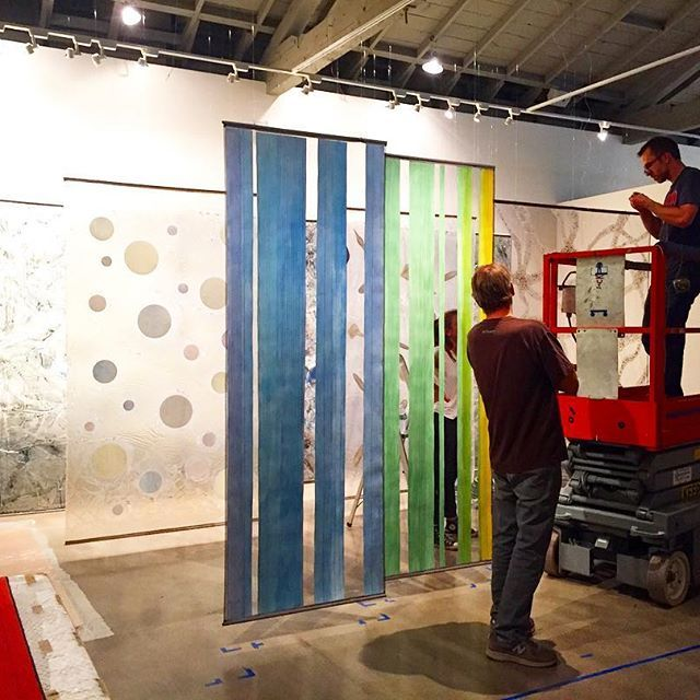 Russell Crotty's installation of the history of the universe is coming together! It's going to be incredible!! #russellcrotty #installation #sneakpeek #lickobservatory