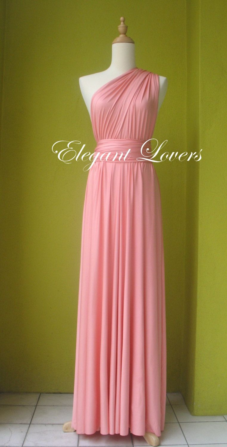 Baby+Pink+Color+Infinity+Dress+Wrap+Dress+by+Elegantlovers+on+Etsy ...