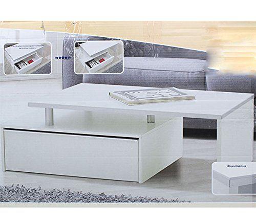 wohnzimmertisch couchtisch mit schublade tisch designertisch beistelltisch weiss schmuckles. Black Bedroom Furniture Sets. Home Design Ideas