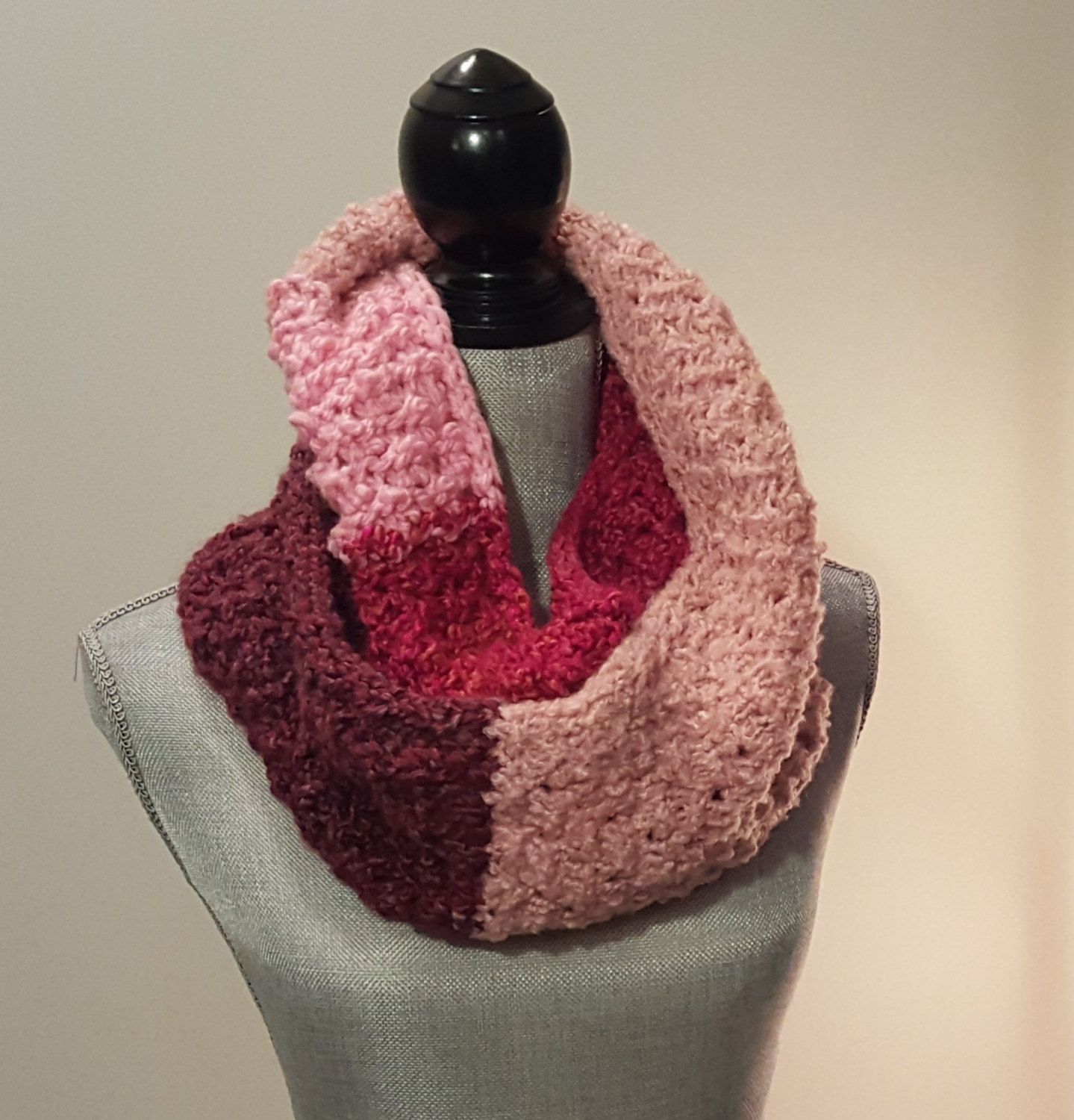 SPRING CLEANING SALE Chunky Knit, Textured Infinity Scarf - $46.75 CAD