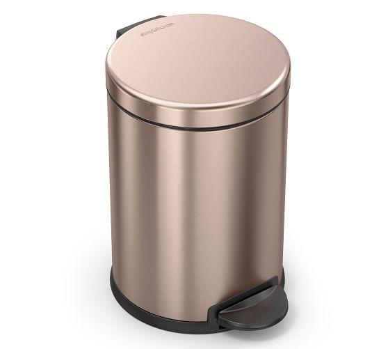 Simplehuman 4 5 Liter Trash Can In 2020 Bathroom Trash Can Simplehuman Gold Bathroom