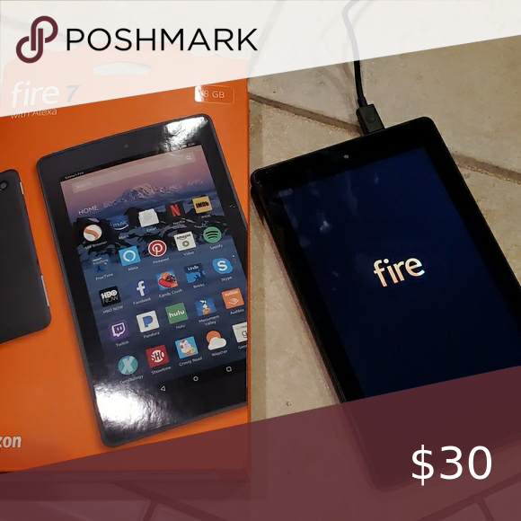 Amazon Fire Tablet Amazon Fire 7 With Alexa 8gb Used Once Just Factory Reset Includes Charger Amazon Other Amazon Fire Tablet Fire Tablet Tablet Amazon