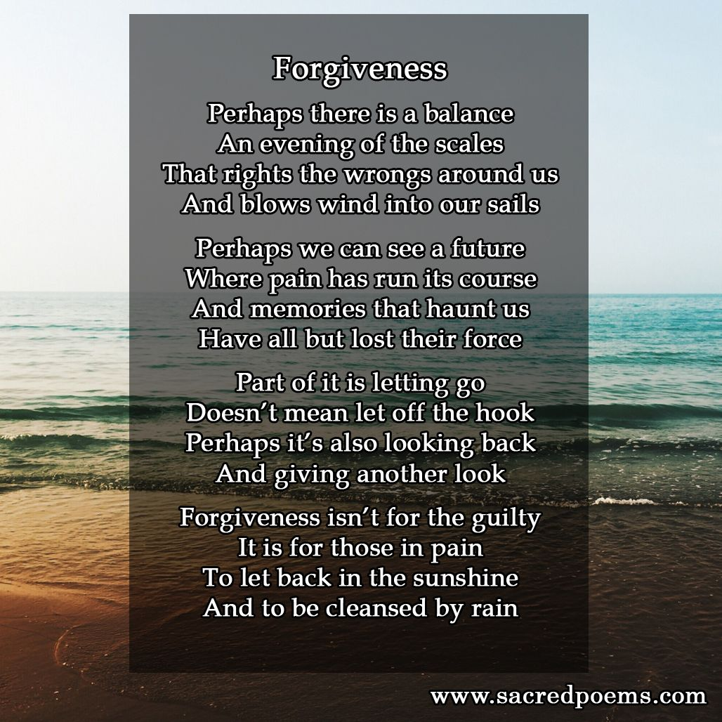 Poems about forgiving someone
