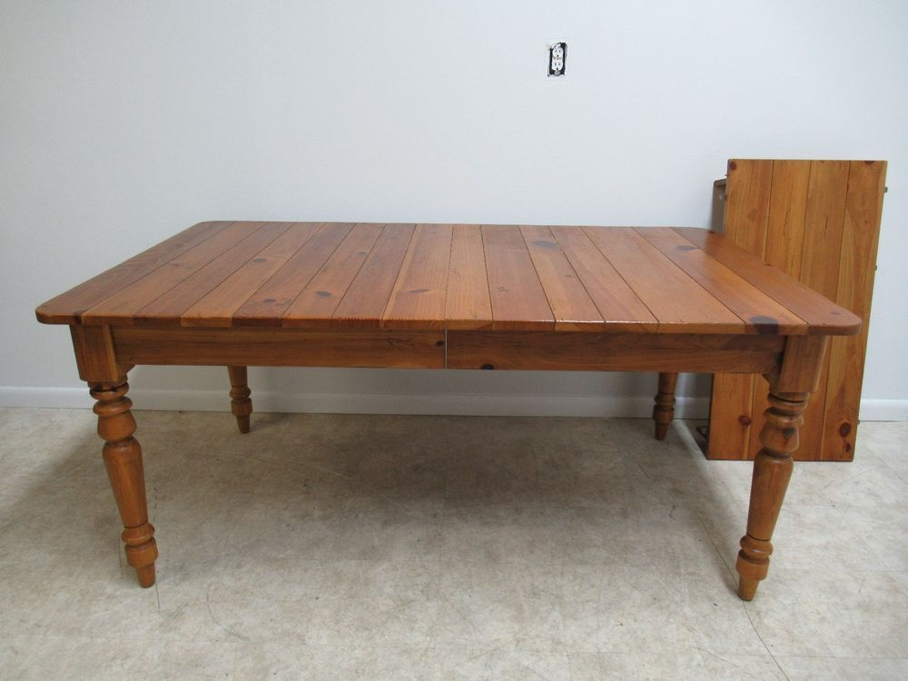 Ethan Allen Country Craftsman Pine Dining Room Banquet Table
