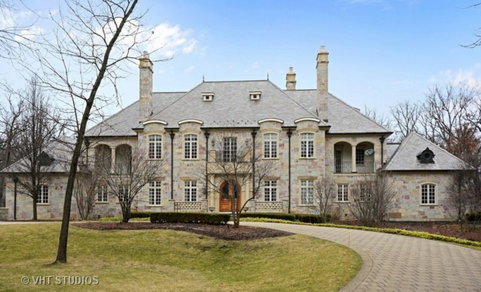 10 000 Square Foot Stone Mansion In Barrington Il Mansions Stone Mansion Barrington