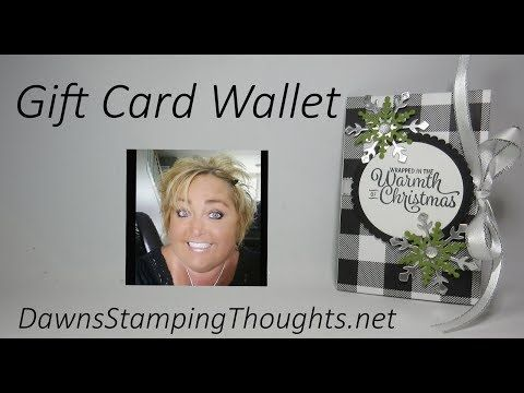 Gift Card Wallet video - Dawnu0027s Stamping Thoughts Sketches and - gift voucher examples
