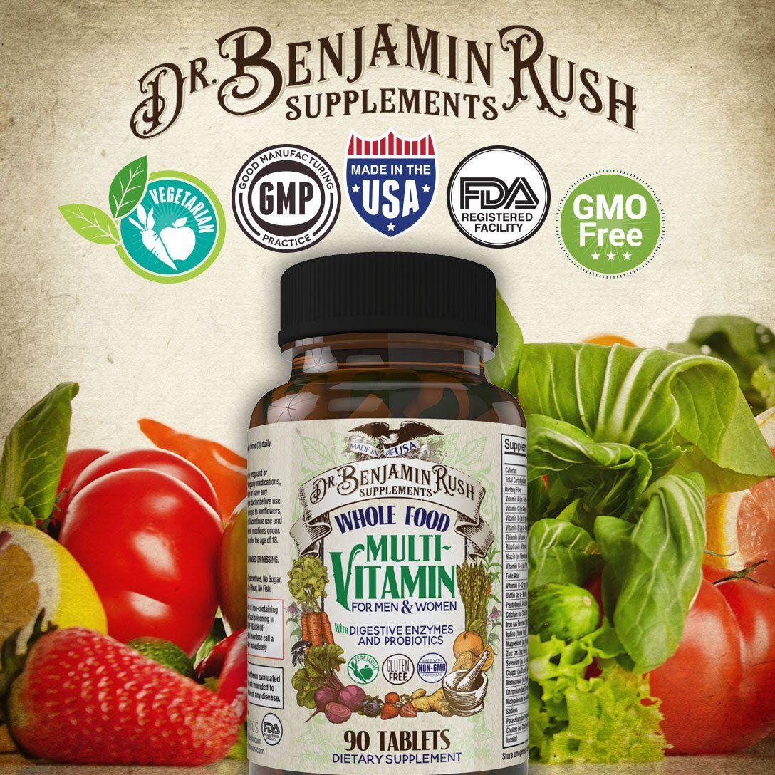 Dr benjamin rush natural whole food daily multivitamin