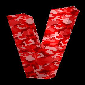 Alfabeto Camuflado Vermelho Novo Red Camouflage Alphabet Novo Alphabet Alfabeto Camuflado