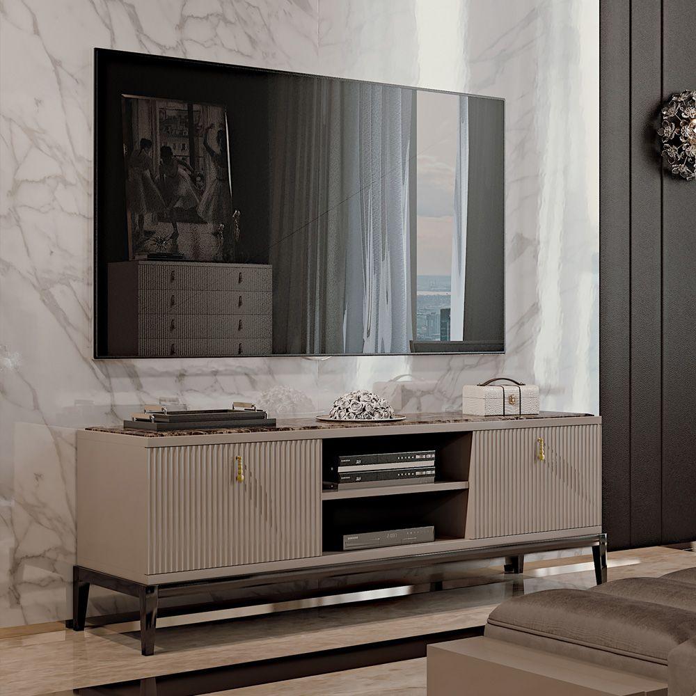 Bedroom Tv Cabinet Design Art Deco Style Bedroom Ideas Bedroom Fireplace Bedroom Design Styles: Italian Designer Art Deco Inspired TV Media Sideboard In