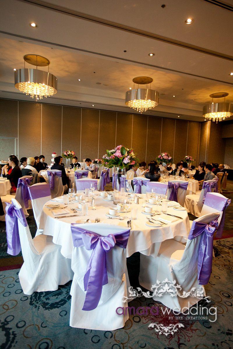 Purple Wedding Chair Covers Vancouver Wedding Decor Photography