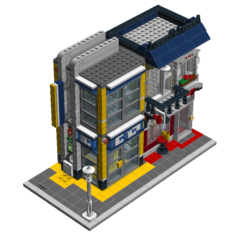Bank Cafe From Bike Shop 2 Lego Digital Designer Moc
