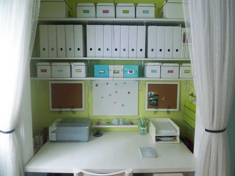 Home Office In Closet Ideas Photography Above Is Part Of Organization