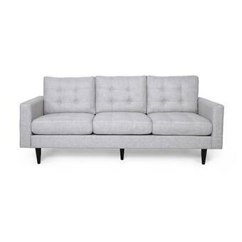 Everly Quinn Baja Mid-Century Upholstered Sofa & Reviews ...
