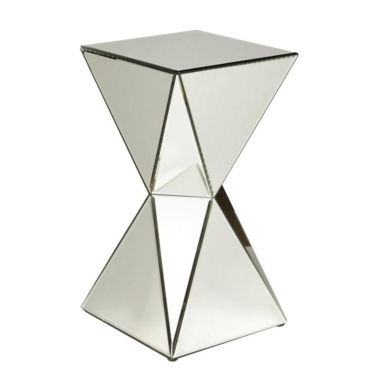 Pulaski Furniture | Home Meridian   The Triangular Mirrored Panels On All  Sides Of This Pedestal