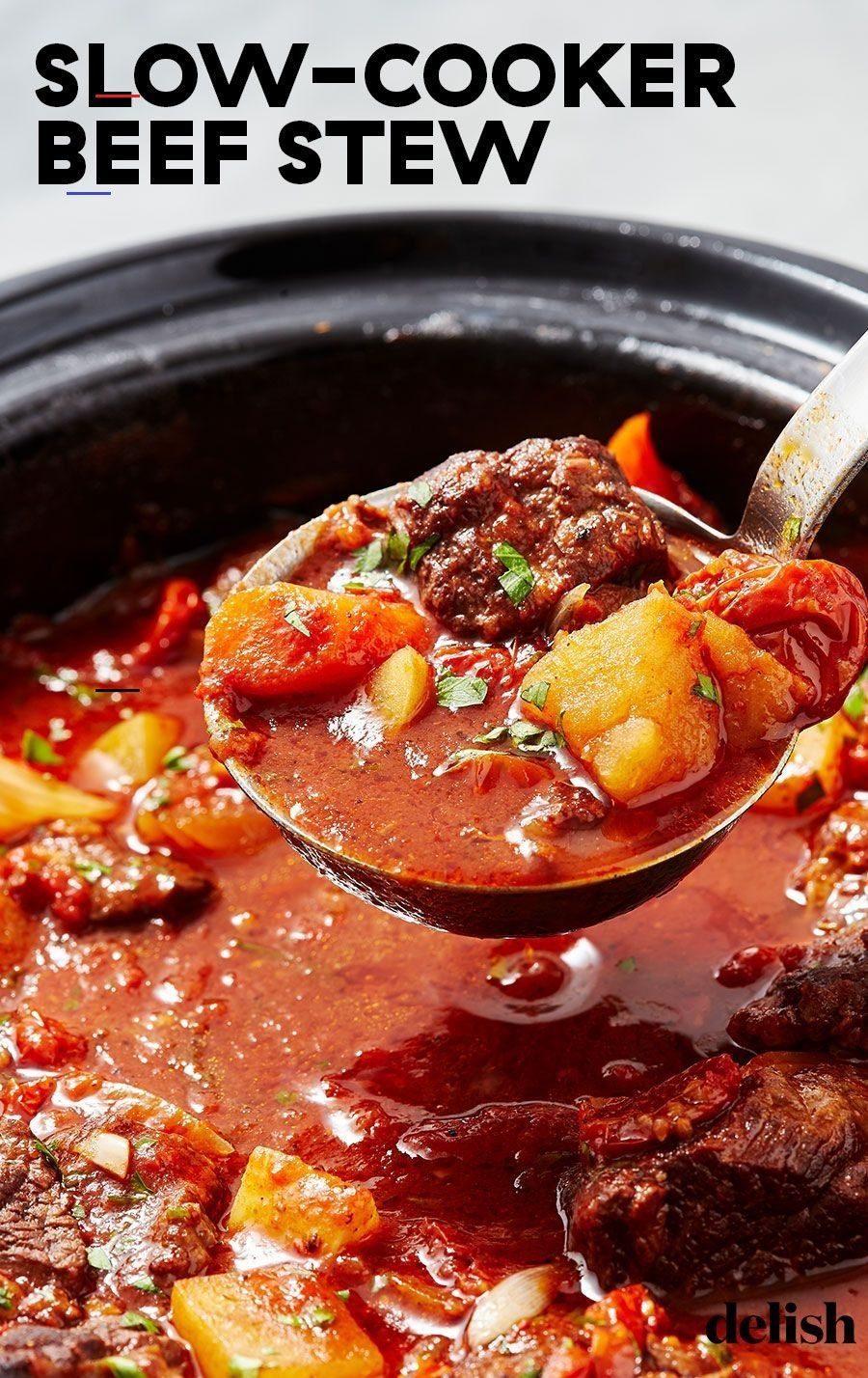 Make Slow Cooker Beef Stew And Everything Will Be Okay Beefstew Looking For An Easy Beef Stew Recipe This Slow Cooker Red Wine Beef En 2020 Guisos Sopas Postres