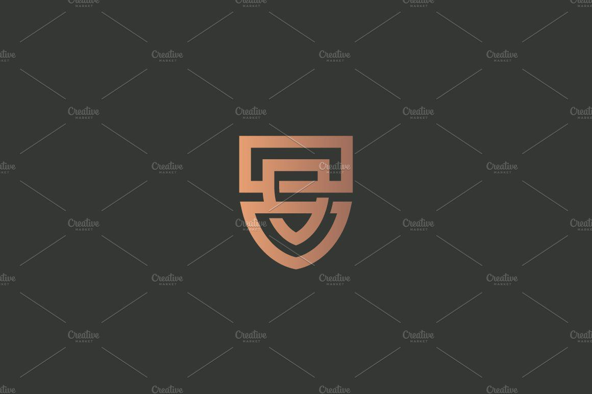 358fa86ad4 Abstract line shield law business house property luxury lawyer minimal  security symbol success company branding illustration
