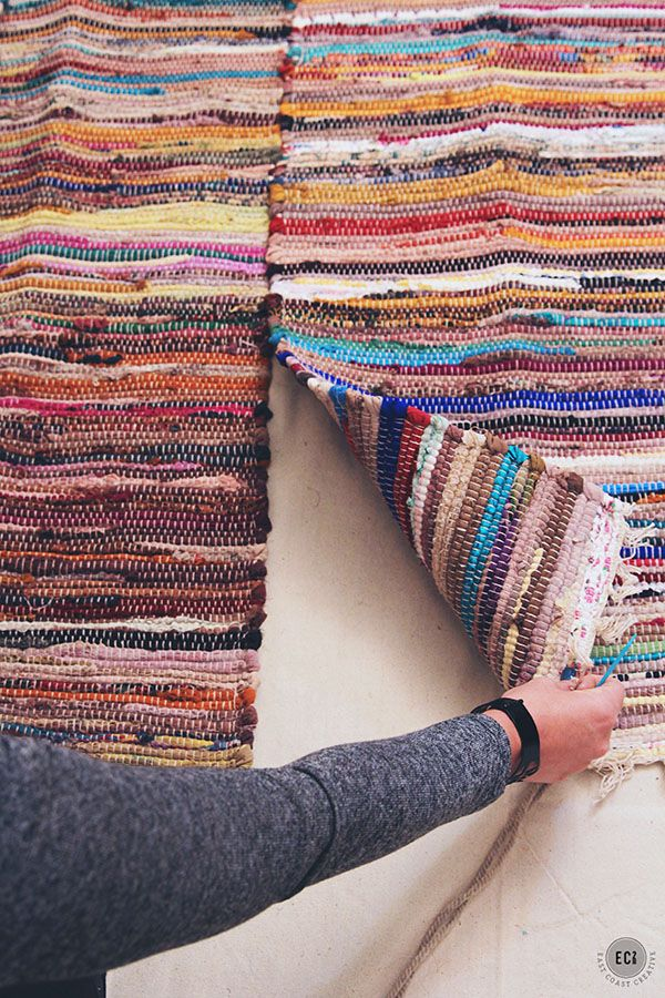 How To Make Your Own Rug from Smaller Rugs - East Coast Creative Blog