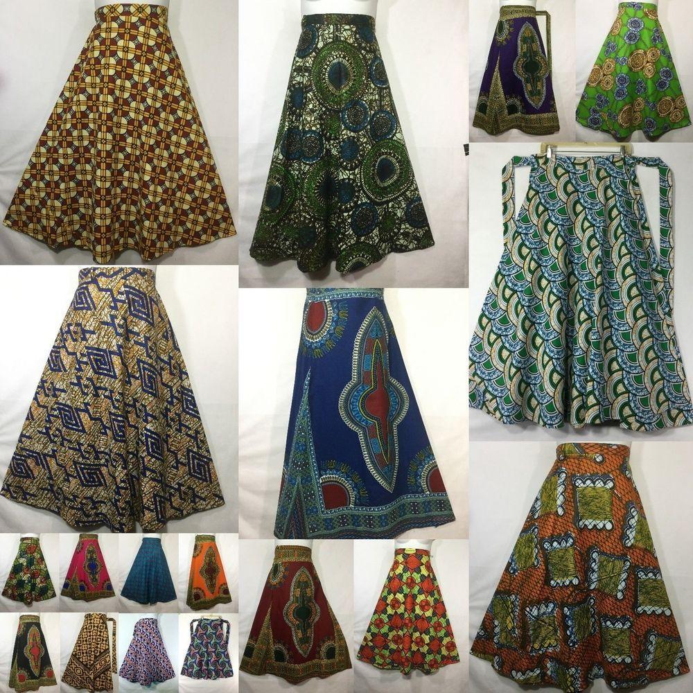 traditional skirt wax fabric skirt ankara