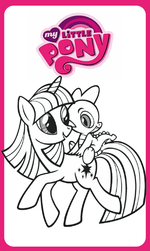 Coloring Pages Little Pony HD Available on Android Apps