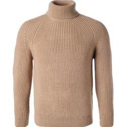 Boss Rollkragen-Pullover Herren, Schurwolle, braun Hugo Boss #wearableart