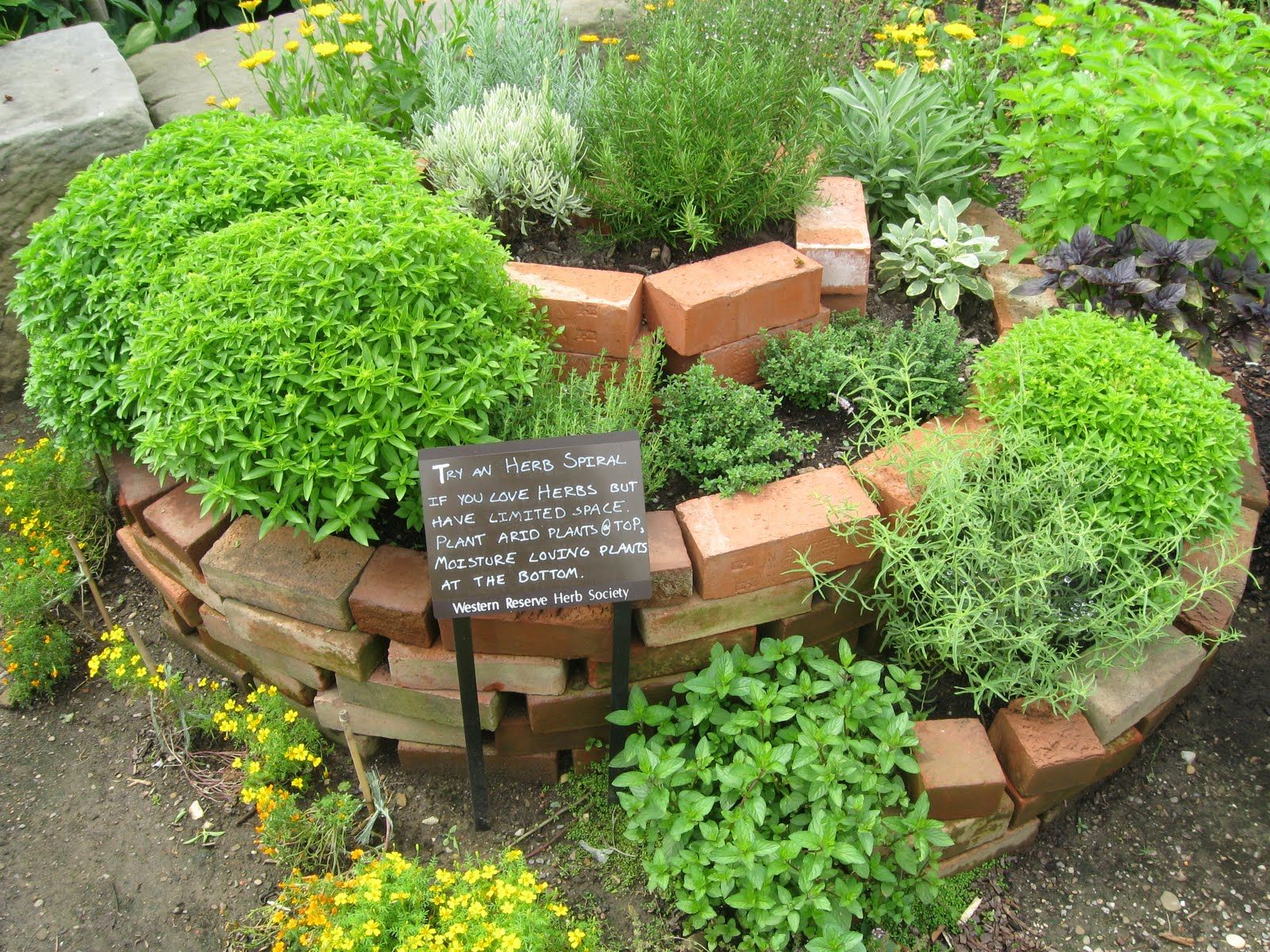 this herb garden design brings creativity and usefulness to the